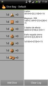 Columnas de Dados y Registro.